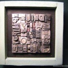 Antigüedades: IMPRENTA - CUADRO TIPOGRÁFICO BICOLOR - REFERENCIA NÚMERO 2. Lote 58072878
