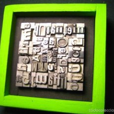 Antigüedades: IMPRENTA - CUADRO TIPOGRÁFICO BICOLOR - REFERENCIA NÚMERO 5. Lote 58072905