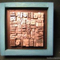 Antigüedades: IMPRENTA - CUADRO TIPOGRÁFICO BICOLOR - REFERENCIA NÚMERO 31. Lote 58077945