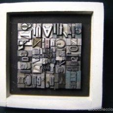 Antigüedades: IMPRENTA - CUADRO TIPOGRÁFICO BICOLOR - REFERENCIA NÚMERO 37. Lote 58078245