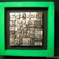 Antigüedades: IMPRENTA - CUADRO TIPOGRÁFICO BICOLOR - REFERENCIA NÚMERO 18. Lote 58078337