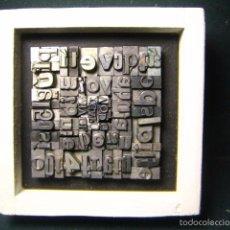 Antigüedades: IMPRENTA - CUADRO TIPOGRÁFICO BICOLOR - REFERENCIA NÚMERO 34. Lote 58079864