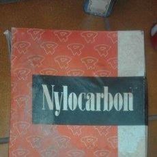 Antigüedades: VENDO ANTIGUA CAJA PAPEL CARBON MAQUINA ESCRIBIR NYLOCARBON MARCA ROLAN DORSO COMPENSADO.. Lote 58081020