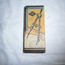 Antigüedades: ANTIGUO COMPAS EN SU CAJA ORIGINAL MODELO Nº 116. Lote 58111475