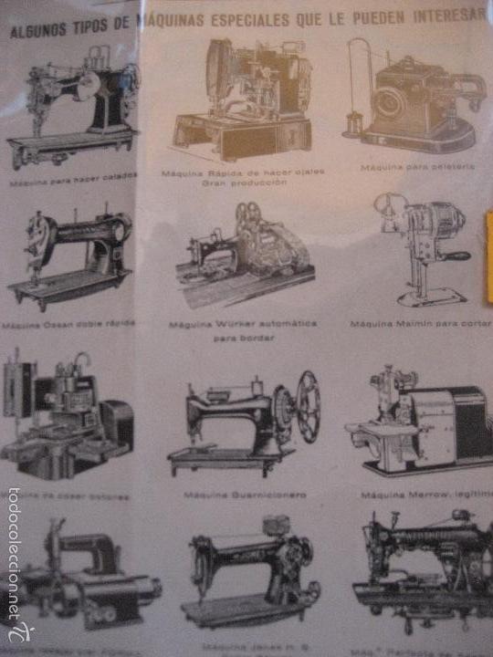 Antigüedades: Maquinas de coser y bordar Wertheim. Hoja publicitaria a dos caras. 17 x 13 cms. - Foto 2 - 151394484