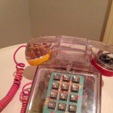Teléfonos: TELEFONO SOBREMESA AÑOS 80 PLASTICO TRANSPARENTE.. Lote 58140076