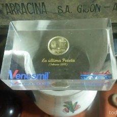 Antigüedades: PISAPAPELES PUBLICITARIO VENOSMIL LINES VASCULAS GRUPO FAES,LA ULTIMA PESETA,FEBRERO 2002. Lote 58184719