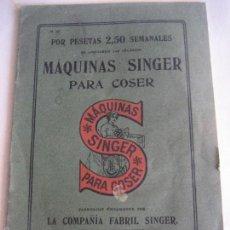 Antigüedades: CATALOGO MAQUINAS SINGER PARA COSER. 1915. Lote 58244794