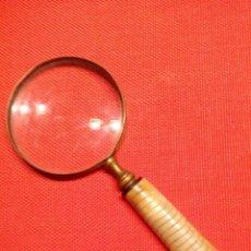 Antigüedades: FANTASTICA LUPA EN BRONCE. Lote 58297038