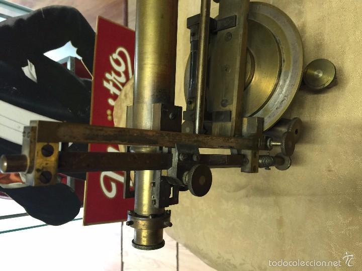 Antigüedades: TEODOLITO FINAL SIGLO XIX BRONCE - Foto 3 - 58319883