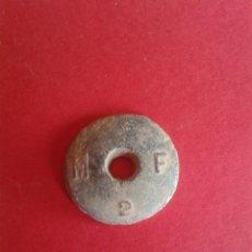 Antigüedades: ANTIGUA PESA DE PLOMO A IDENTIFICAR. 5,9 GRAMOS.. Lote 58347730