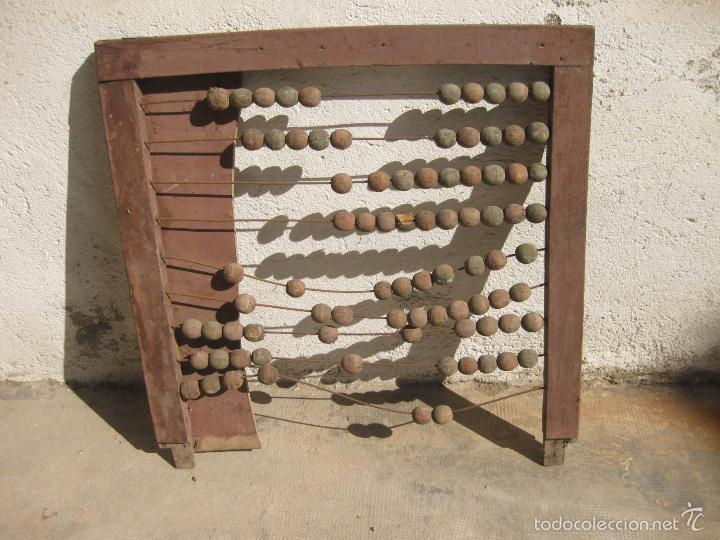 ANTIGUO ABACO DE GRAN TAMAÑO PARA ESCUELA (Antigüedades - Técnicas - Aparatos de Cálculo - Ábacos Antiguos)