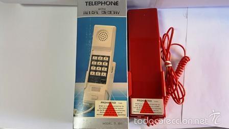 Teléfonos: TELEPHONE - WITH REDIAL MEMORY - COLOR ROJO - NUEVO SIN USO - EN SU CAJA DE ORIGEN - - Foto 2 - 58388379