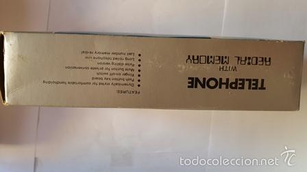 Teléfonos: TELEPHONE - WITH REDIAL MEMORY - COLOR ROJO - NUEVO SIN USO - EN SU CAJA DE ORIGEN - - Foto 3 - 58388379