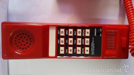 Teléfonos: TELEPHONE - WITH REDIAL MEMORY - COLOR ROJO - NUEVO SIN USO - EN SU CAJA DE ORIGEN - - Foto 5 - 58388379