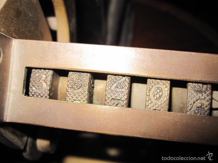 Antigüedades: IMPRESIONANTE APARATO PARA NUMERAR, DE IMPRENTA U OFICINA. S.XIX. HIERRO Y BRONCE. GRAN TAMAÑO - Foto 11 - 28445276