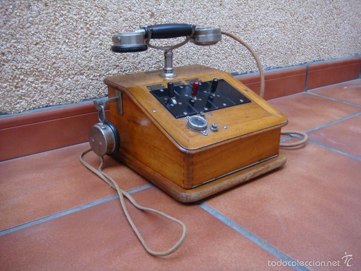 ANTIGUA CENTRALITA TELEFONICA FRANCESA, DE LA CASA CH VENTROUX (FILIAL DE LA MARCA GRAMMOND). (Antigüedades - Técnicas - Teléfonos Antiguos)