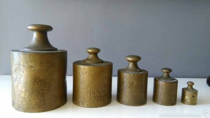 ANTIGUAS PESAS PARA BALANZA (Antigüedades - Técnicas - Medidas de Peso Antiguas - Otras)