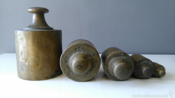 Antigüedades: Antiguas pesas para balanza - Foto 3 - 58389695