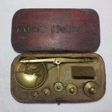 Antigüedades: CAJA DE PONDERALES MONETARIOS MARCA TW. Lote 58404658