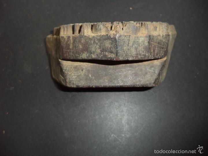 Antigüedades: ESTAMPADOR DE MADERA. PARA TEXTIL inicio sec XX 02 - Foto 2 - 58431299