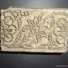 Antigüedades: ESTAMPADOR DE MADERA. PARA TEXTIL INICIO SEC XX 15. Lote 58431440