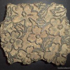 Antigüedades: ESTAMPADOR DE MADERA. PARA TEXTIL INICIO SEC XX 28. Lote 58431560