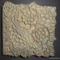 Antigüedades: ESTAMPADOR DE MADERA. PARA TEXTIL INICIO SEC XX 35. Lote 58431621