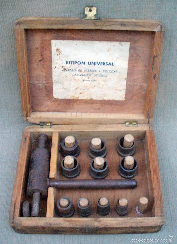 KITIPON UNIVERSAL - ANTIGUA HERRAMIENTA PARA EXTRAER Y COLOCAR CASQUILLOS DE BIELA (Antigüedades - Técnicas - Herramientas Profesionales - Mecánica)