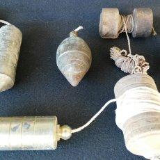 Antigüedades: LOTE DE PLOMADAS ANTIGUAS. Lote 58478699