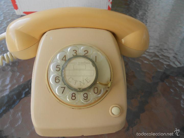 TELEFONO HERALDO NUMEROS DORADOS, MADE IN SPAIN(MALAGA)DECORACION POP RETRO (Antigüedades - Técnicas - Teléfonos Antiguos)