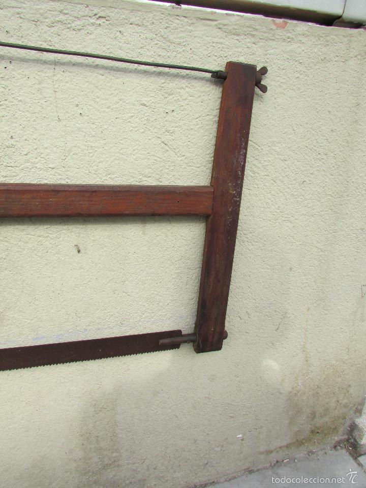 Antigüedades: SIERRA antigua para TALAR MADEROS. Tensada por alambre. Antigua - Foto 4 - 58494562