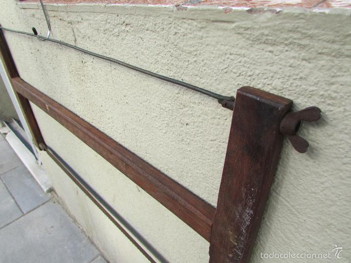 Antigüedades: SIERRA antigua para TALAR MADEROS. Tensada por alambre. Antigua - Foto 5 - 58494562