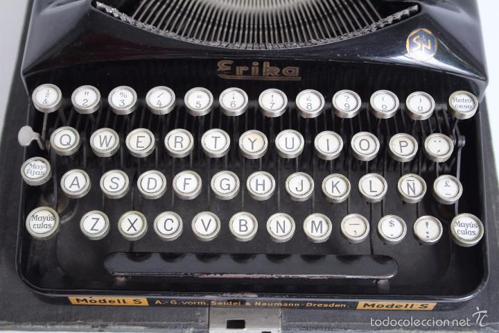 Antigüedades: Máquina de escribir Erika Model S. Alemania. 1937. - Foto 5 - 58509984