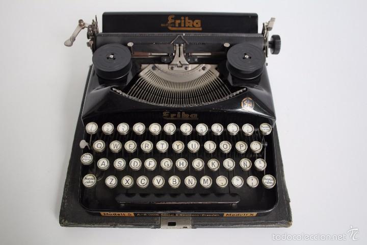 Antigüedades: Máquina de escribir Erika Model S. Alemania. 1937. - Foto 6 - 58509984