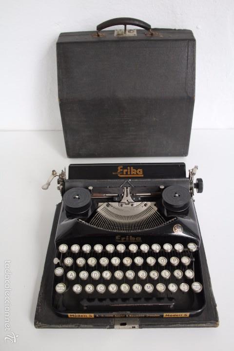 Antigüedades: Máquina de escribir Erika Model S. Alemania. 1937. - Foto 9 - 58509984