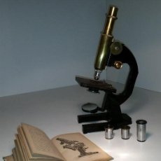Antigüedades: MICROSCOPIO ANTIGUO, ALEMANIA. Lote 58512964