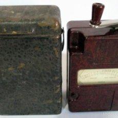 Antigüedades: ANTIGUO PROBADOR DE TENSIÓN ELÉCTRICA EN BAQUELITA MARCA EVERSHED & VIGNOLES ¨MEGGER¨ ENGLAND . Lote 58529834