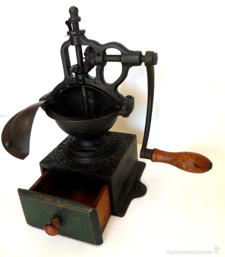 Antigüedades: ANTIGUO MOLINILLO DE CAFÉ DE MANIVELA LATERAL, MARCA PEUGEOT, MODELO A-0. CA. 1879/1943 - Foto 7 - 58537644