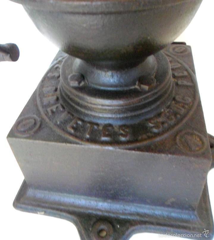 Antigüedades: ANTIGUO MOLINILLO DE CAFÉ DE MANIVELA LATERAL, MARCA PEUGEOT, MODELO A-0. CA. 1879/1943 - Foto 11 - 58537644