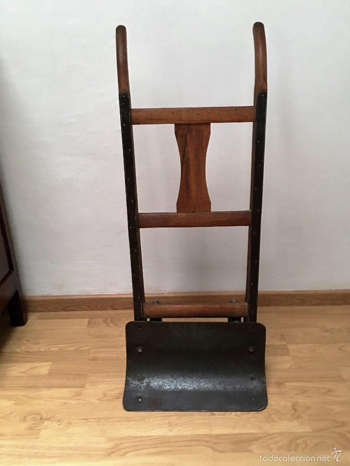 Antigüedades: carretilla antigua de madera y hierro - Foto 3 - 58564456
