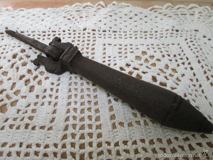 BONITA ALDABA DEL SIGLO XVIII (Antigüedades - Técnicas - Cerrajería y Forja - Aldabas Antiguas)