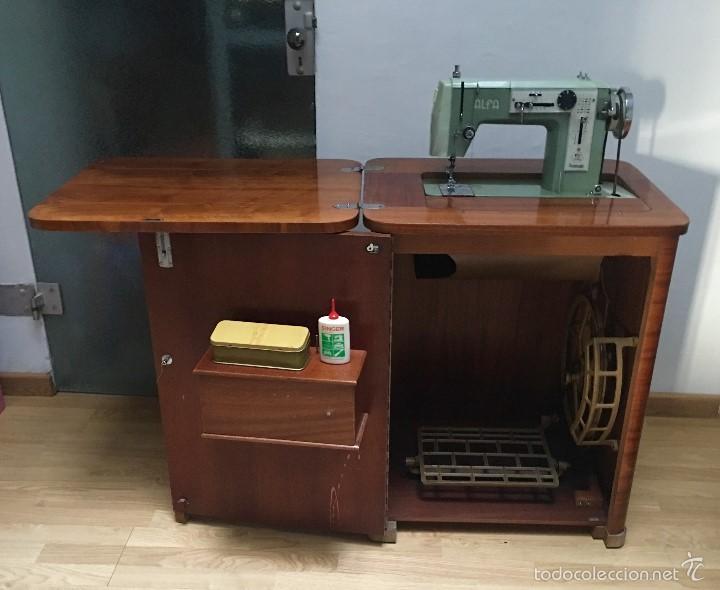 Antigüedades: maquina de coser ALFA de los años 60-70 - Foto 2 - 58599694