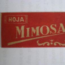 Antigüedades: HOJA DE AFEITAR MIMOSA (FUNDA Y CUCHILLA). FABRICACION ESPAÑOLA PARA BARBAS DELICADAS.. Lote 58603994
