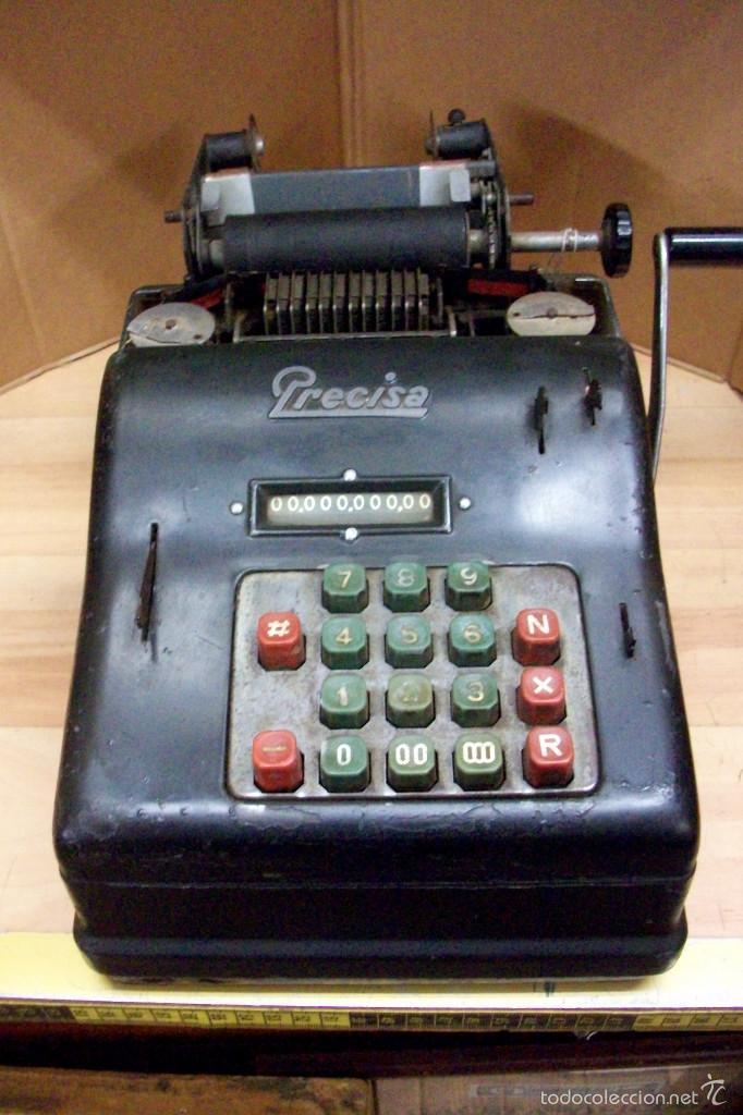 ANTIGUA CALCULADORA-SUMADORA-PRECISA-MANUAL-AÑOS 1950-FUNCIONA (Antigüedades - Técnicas - Aparatos de Cálculo - Calculadoras Antiguas)
