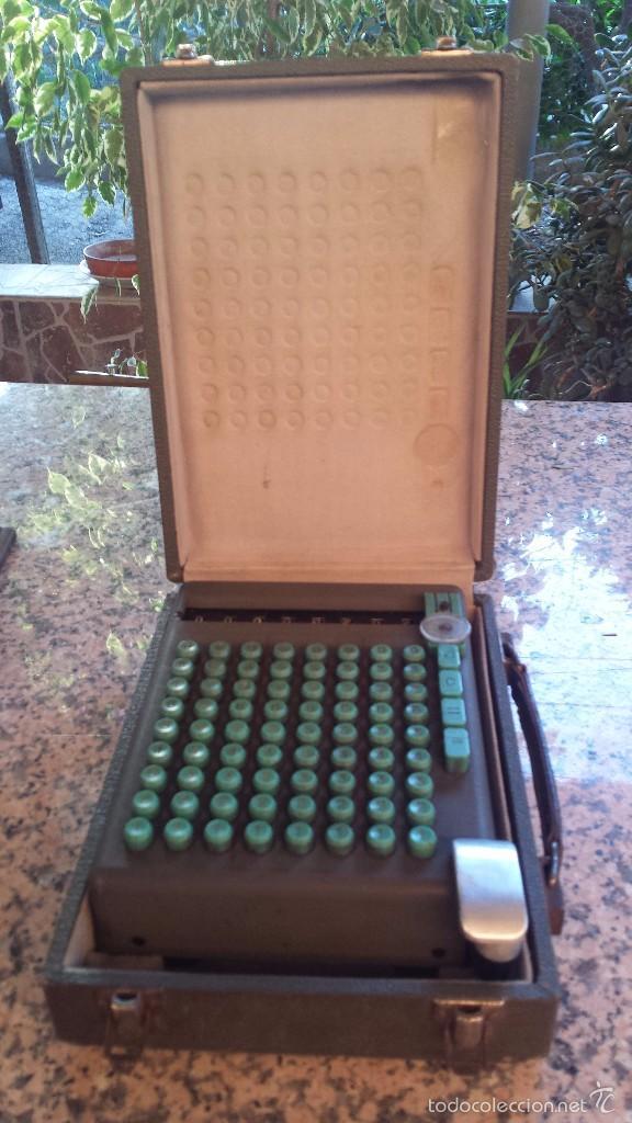 Antigüedades: antigua calculadora swiss made 19393, preciosoa - Foto 6 - 58642845