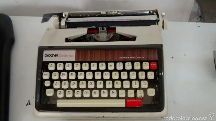 Antigüedades: Maquina de escribir brother deluxe 1350 - Foto 3 - 58852331
