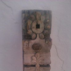 Antigüedades: ANTIQUISIMO ADORNO PARA TECHO DE MADERA TALLADA A MANO,HINDÚ SIGLO XVIII/XIX.PIEZA UNICA. Lote 58892126