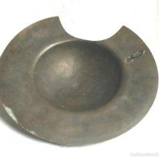 Antigüedades: BACIA BARBERO BRONCE O LATÓN S XIX, COMPLETA BUEN ESTADO. MED. 30 CM. Lote 58939965