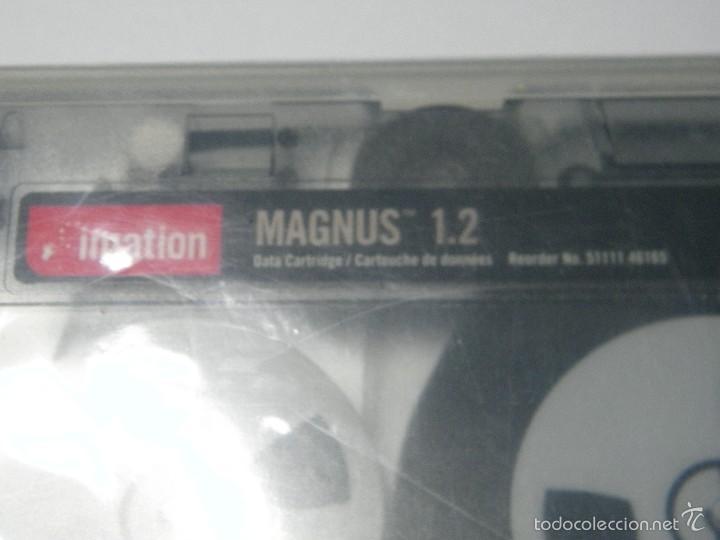 Antigüedades: CARTUCHO DE DATOS IMATION MAGNUS 1.2 GB NUEVO - Foto 2 - 59074865